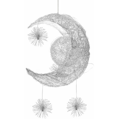 LED Pendant Light Fairy Modern Hanging Light Braided Creative Moon Stars Pendant Light
