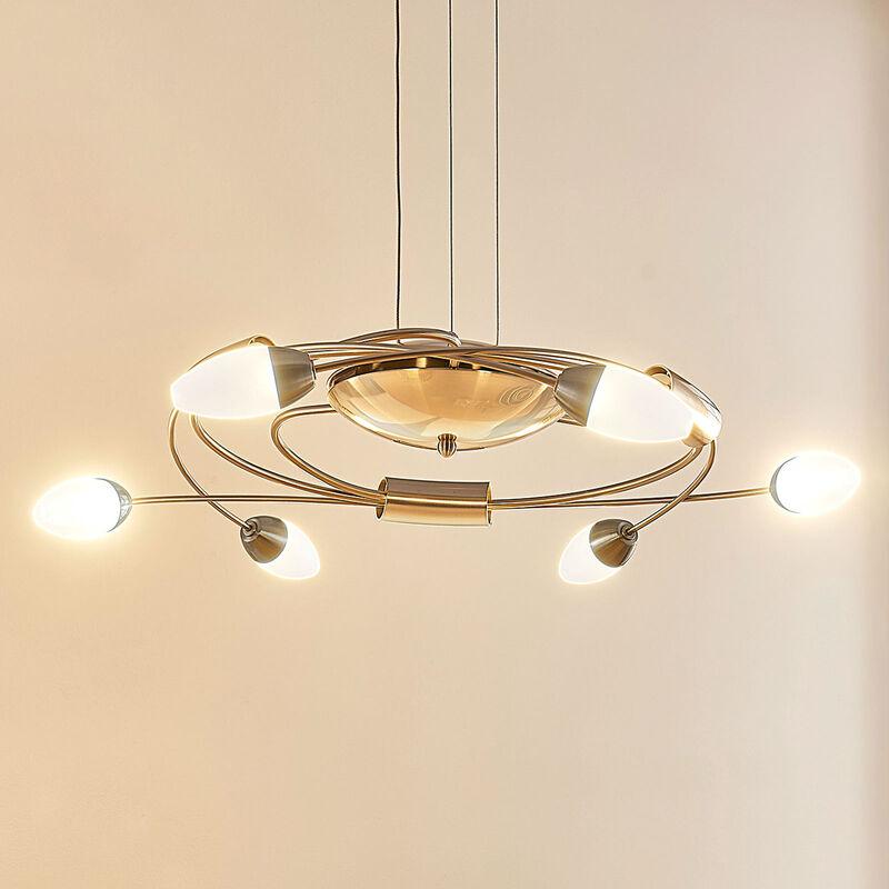 LED-Hängeleuchte Deyan, dimmbar, 6-fl. - LAMPENWELT