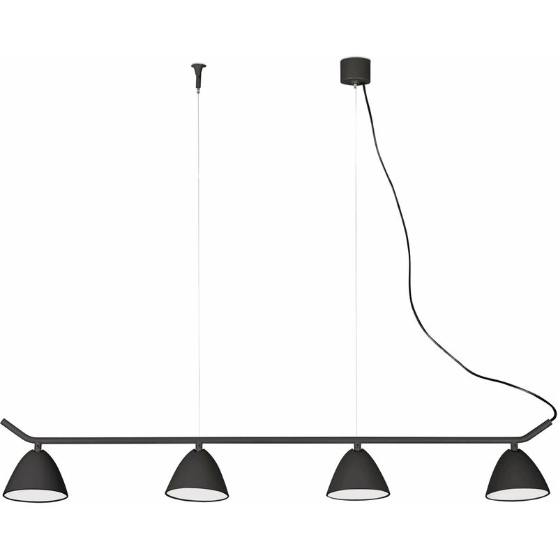 08-faro - Blitz schwarz Pendelleuchte 4 Glühbirnen