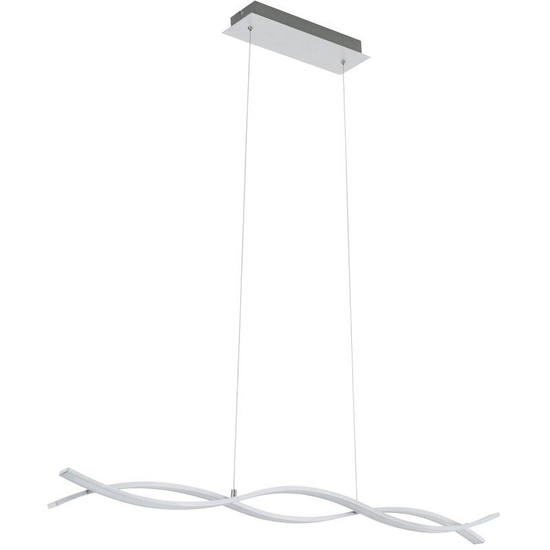 LED Pendelleuchte Peters-Living 6470627 Hängelampe Aluminium Esszimmer