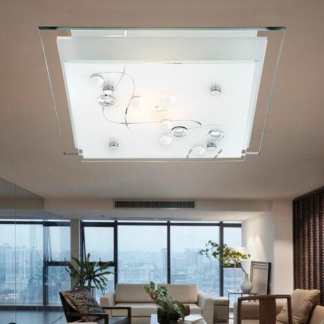 LED piedras decorativas 9.5 vatios de la lámpara del techo del comedor claro cuadrado cromo de la iluminación