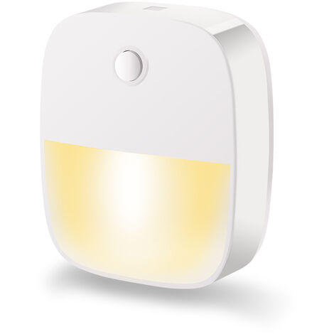 LED pilot, self-adhesive wall light with motion detector and light sensor, children's LED pilot loader for kindergarten, bedroom, garage and hallway night light two in a warm white * 1 2.5 W