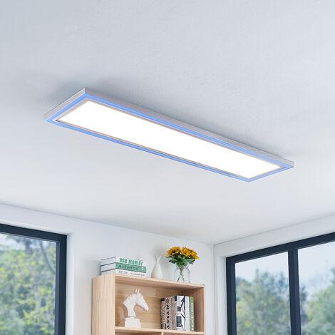 LED Plafonnier à intensité variable 'Lynn' en aluminium pour salon & salle à manger