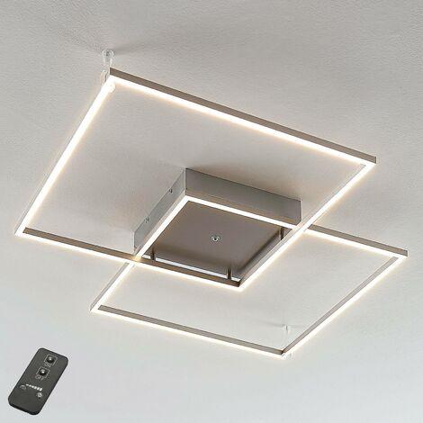 LED Plafonnier à intensité variable 'Mirac' en métal pour salon & salle à manger