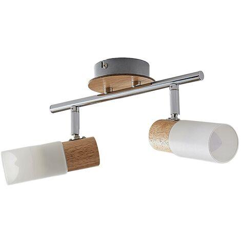 LED Plafonnier 'Christoph' en bois pour chambre à coucher