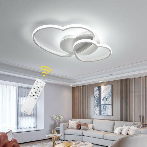 LED Plafonnier Dimmable Moderne avec Télécommande Silice et Aluminium pour Salon Salle à manger Bureau