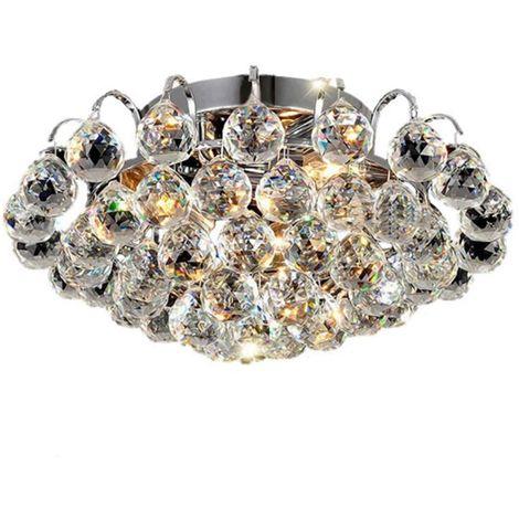 Led plafonnier en cristal chrome moderne luxe lustre lampe de plafond clairage design e14 pour - Lampe pour chambre a coucher ...