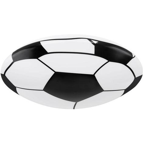 LED Plafonnier en forme de ballon de football, noir et blanc, rond, LEMMI