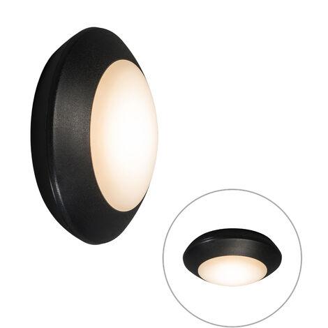 LED Plafonnier Moderne noir IP65 - Bertina Qazqa Moderne Luminaire exterieur IP65 Rond