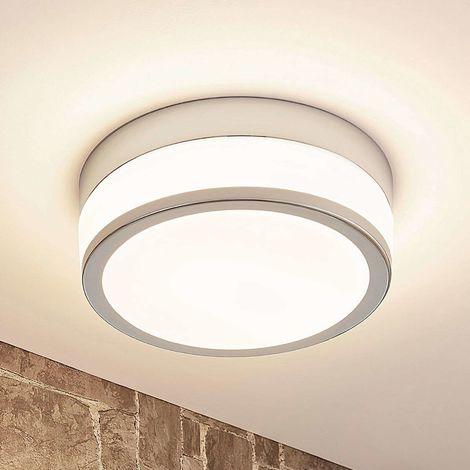 LED Plafonnier Salle De Bain à intensité variable 'Luanna' en verre pour salle de bain