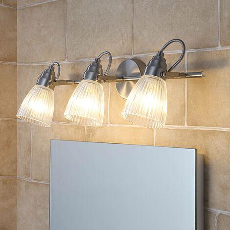 LED Plafonnier Salle De Bain 'Kara' en verre pour salle de bain
