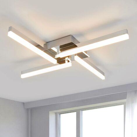 LED Plafonnier Salle De Bain 'Patrik' en métal pour salle de bain