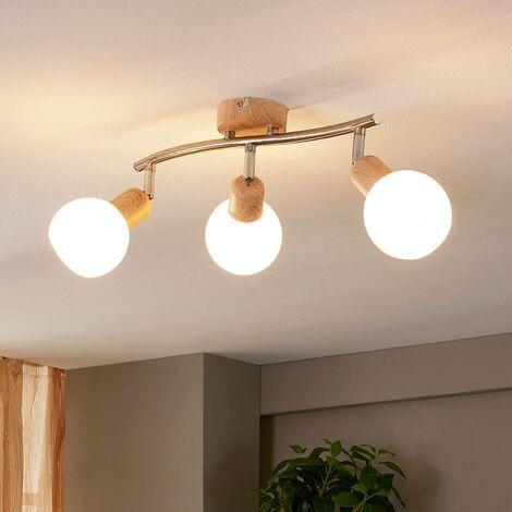LED Plafonnier 'Svenka' en verre pour salon & salle à manger