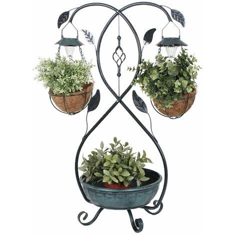 LED planta solar soporte caja concha hojas diseño jardín flores semáforo lámpara Harms 315127