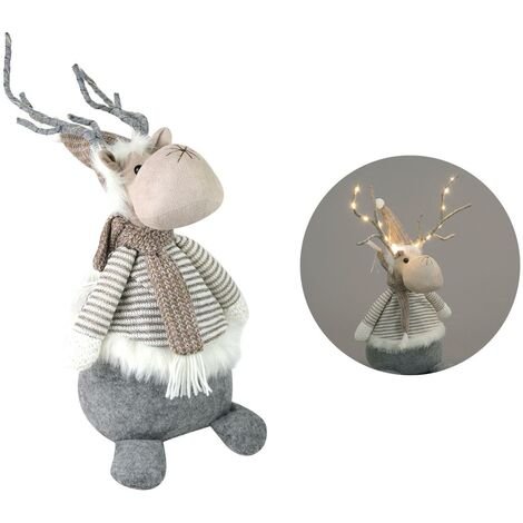 LED Plush Reindeer Christmas Decoration Soft Toy Festive Novelty Kids 52cm