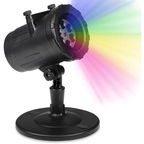 LED Projektor Lampe Lichteffekt Strahler | 48 Motive | 4 Watt Strahl-Leistung | 5m Strahlung | IP44 Spritzwasserschutz | Weihnachten Halloween Winter Herbst | Indoor & Outdoor