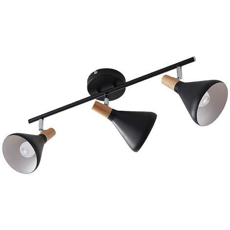 LED Proyector, foco 'Arina' (Moderno) en Negro hecho de Metal e.o. para Dormitorio (3 llamas, E14, A+) de Lindby | foco empotrado, lámpara de techo, lámpara de pared