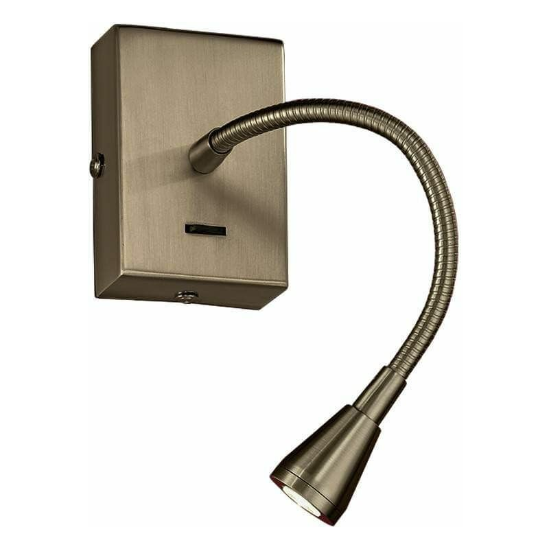 Image of 1 Bulb LED Bronze Wall Light