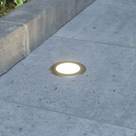 LED recessed floor light Doris, stainless steel
