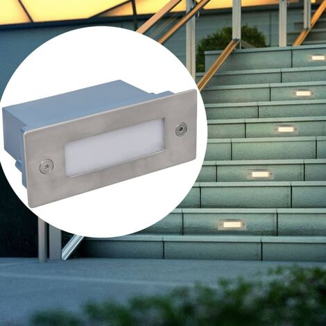 LED Recessed Stair Lights 12 pcs 44x111x56 mm - Silver