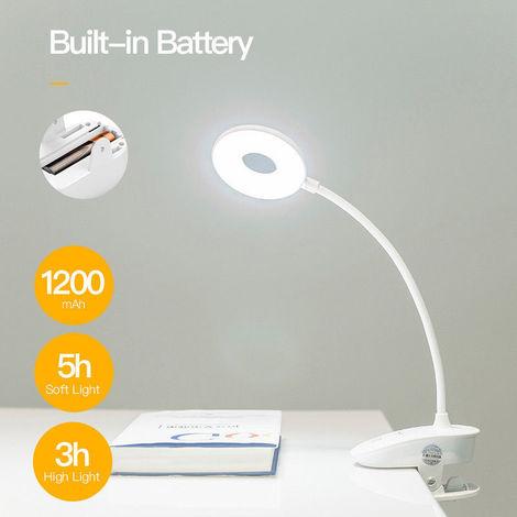 LED Regulable Flexible Abrazadera de cuello de cisne Lámpara de escritorio Lámpara de protección ocular Luz sensible Función de memoria Cargador USB