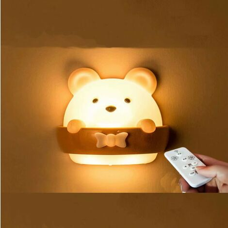 LED Remote Control Night Light Bedroom Sleep Baby Baby Breastfeeding with Eye Protection Soft Soft Table Lamp Rechargeable