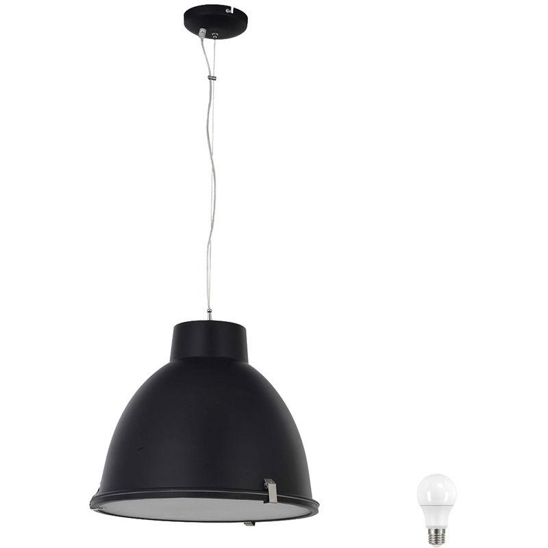 Etc-shop - Hänge Decken Lampe Wohnraum Pendel Leuchte matt schwarz Glas Strahler im Set inkl. LED Leuchtmittel