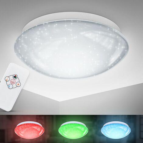 LED RGB Deckenleuchte Sternen-Licht Glitzer-Lampe ...
