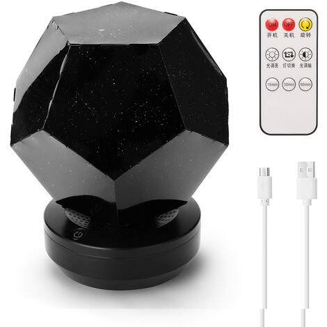 LED romantico de la noche estrellada de la lampara, la luz del proyector de la estrella 3D