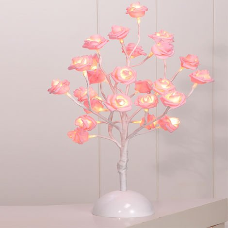 LED-Rosenblütenbaum Pink H 40 cm-D50025