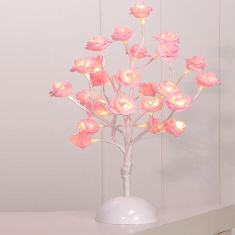LED-Rosenblütenbaum Pink H 40 cm-M50025