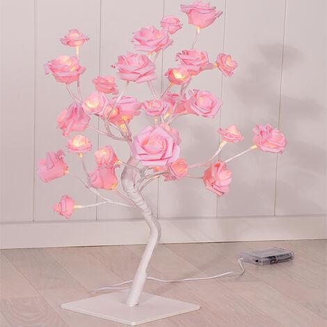 LED Rosenblütenbaum Pink H 45 cm-M50033