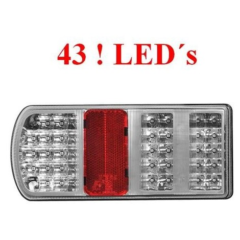 LED Rückleuchte Rücklicht Anhänger 5 Funktionen 43 LED's LINKS Anhängerlicht