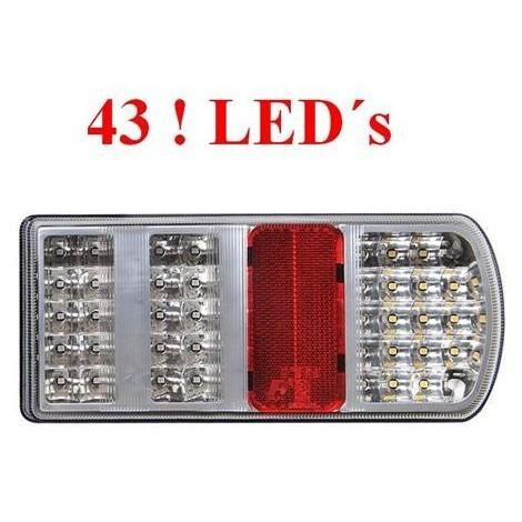 LED Rückleuchte Rücklicht Anhänger 5 Funktionen 43 LED's RECHTS Anhängerlicht