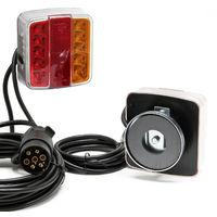 LED Rückleuchten Beleuchtungssatz Anhängerbeleuchtung Heckleuchte mit Magneten 7-pol 12V E11