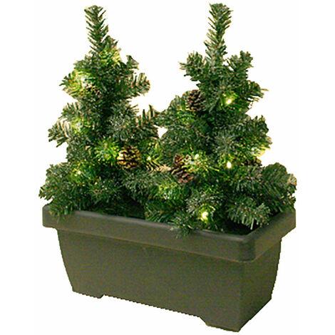 LED sapin extérieur guirlande lumineuse pommes de pin décoration de Noël suspension de balcon X-Mas Harms 507174