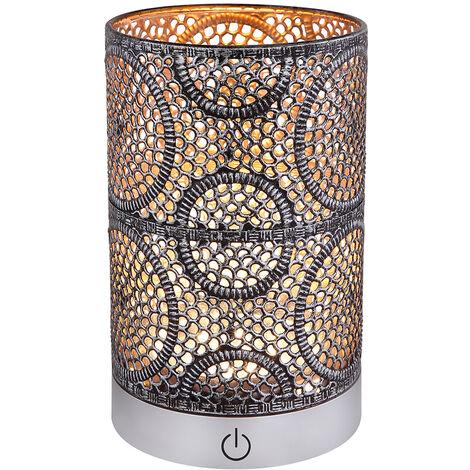 LED Schreib Nacht Tisch Lampe Antik Leuchte Touch Dimmer Silber Gold 3 Stufen