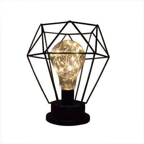 LED Schreibtischlampe Nachttischlampe Dekorative Nachtlampe USB oder batteriebetrieben für Arbeitszimmer, Büro, Esszimmer Schlafzimmer Esszimmer Restaurant