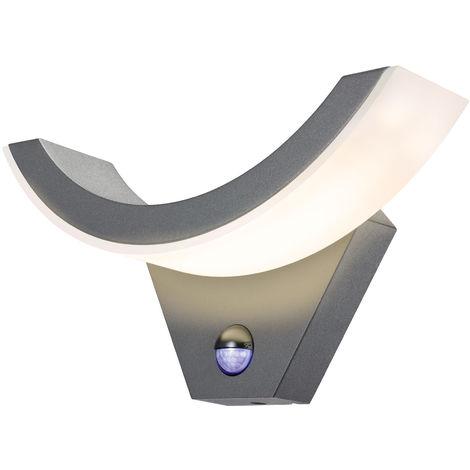 LED Sensor Außenwandleuchte warmweiß 3000K 600lm 15 Watt Außen Wandlampe 201178