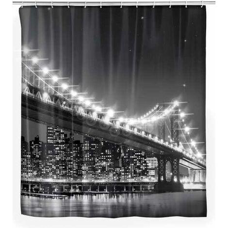 LED shower curtain Brooklyn Bridge WENKO