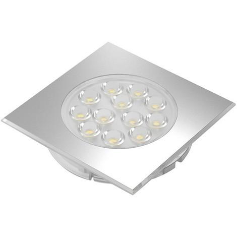 LED Sign Plus square nw Aluminium Optik