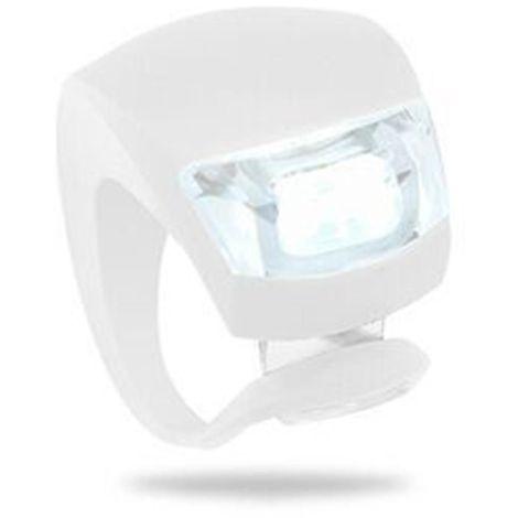 LED silicone étanche vélo avant feux arrière de vélo poussoir cycle clip lumière Blanc - Blanc