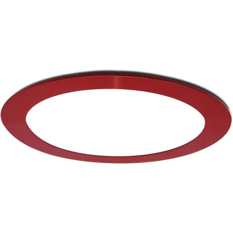 Led Slimline Downlight Rond Cadre Rouge 225Mm 18W 1380Lm 30.000H
