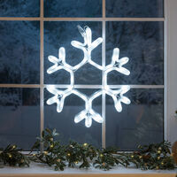 LED Snowflake Window Rope Light 38cm