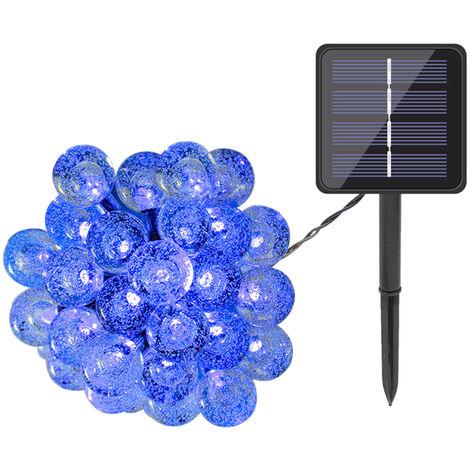 """main image of """"Globe solares luces de la secuencia de 100 LED 39,4ft 8 modos de iluminacion IP65 resistente al agua con energia solar construido en cadena de la lampara del centelleo del Batterys 600mAh, para decoracion de jardin de Navidad, blanco caliente, 100 LED"""""""