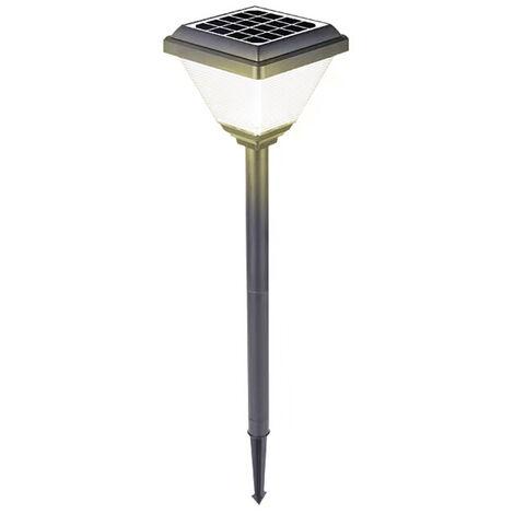 LED solar camino Estaca de control de iluminacion luces de cesped al aire libre luces en el suelo del paisaje de la lampara a prueba de agua para la fiesta de la boda Yard Pasarela Patio Decoracion de la lampara, blanco caliente