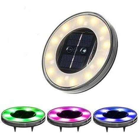 LED Solar Floor Lamp 4 Pack, Motion Sensor, 7 RGB Colors, Waterproof IP68, Outdoor Light, Street Light Lights, Buried Light For Path Garden Terrace Courtyard Lawn