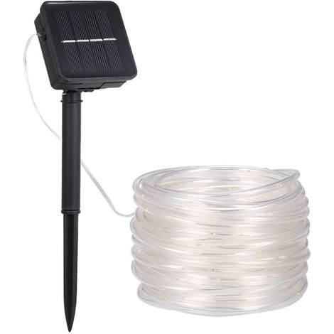 LED solar hose lawn light with built-in 600 mAh rechargeable battery