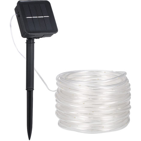 LED solar hose lawn light with built-in rechargeable battery