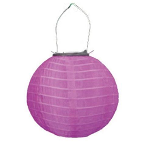 LED Solar Lampion Pink Diámetro 20cm